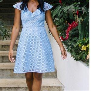 Draper James lattice Aline dress